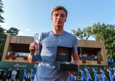 Wręczenie nagród finalistom turnieju singlowego Poznań Open 2017 - 1. Alexey Vatutin (RUS), 2. Guido Andreozzi (ARG) - Poznań Open 2017 - 22.07.2017 r.